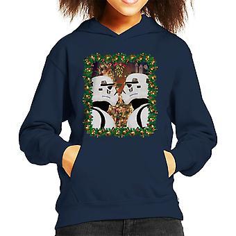 Camiseta original Stormtrooper muérdago Navidad niño de encapuchados