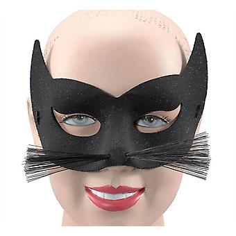 Glitter gatto + baffi maschera per gli occhi.