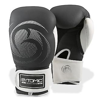 Bytomic Legacy, gants de boxe en cuir noir/blanc