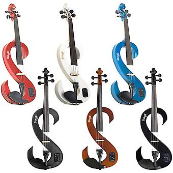 Stagg EVN Electric Violin Outfit with Case, Bow and Headphones - Various Colours