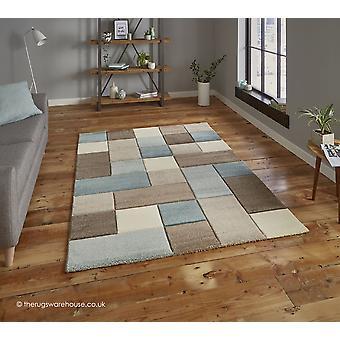 CALVERLEIGH Beige blauw tapijt