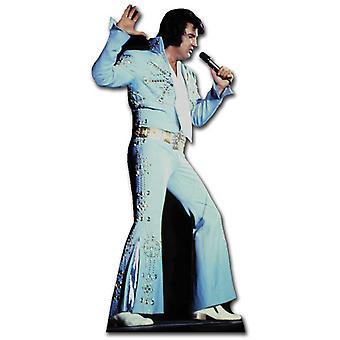 الغناء ألفيس يرتدي بذله زرقاء-انقطاع الكرتون شمعي/الواقف