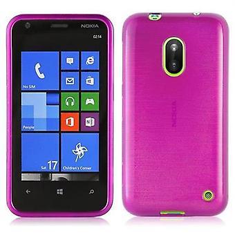 Cadorabo Caja para Nokia Lumia 620 Funda de la caja - Funda del teléfono móvil hecha de silicona flexible TPU - Funda de silicona caso de protección Ultra delgado soft Back Cover Case Bumper