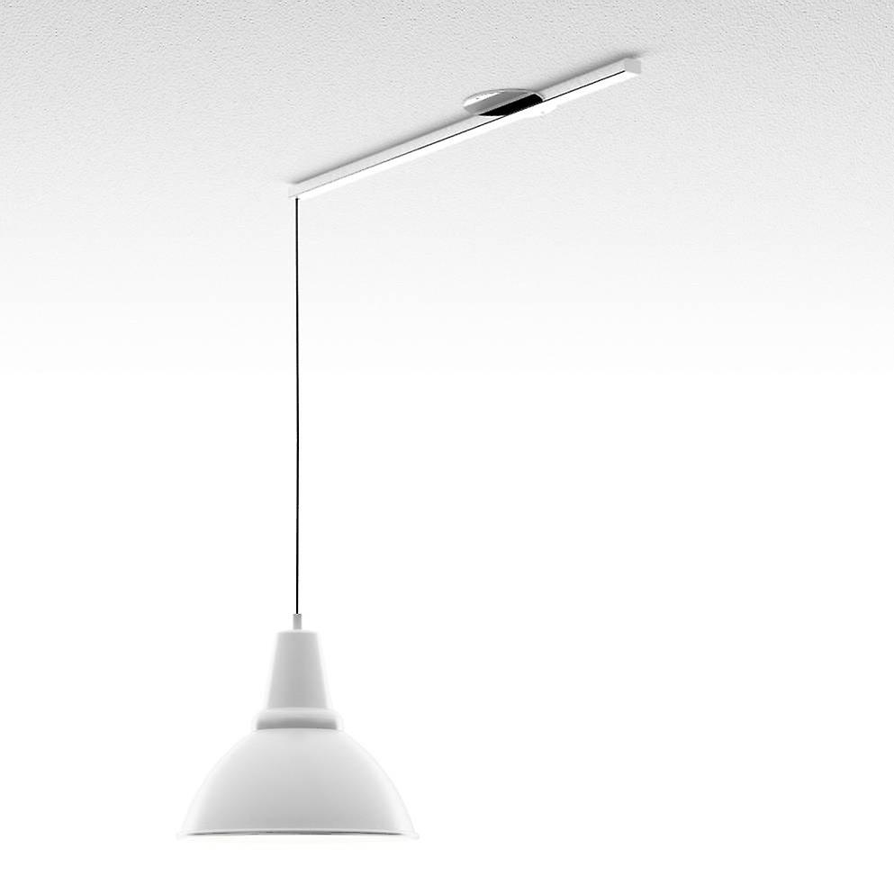 Lightswing suspension system for hanging lamps-Single-White