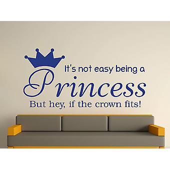 Being A Princess Wall Art Sticker - Azure
