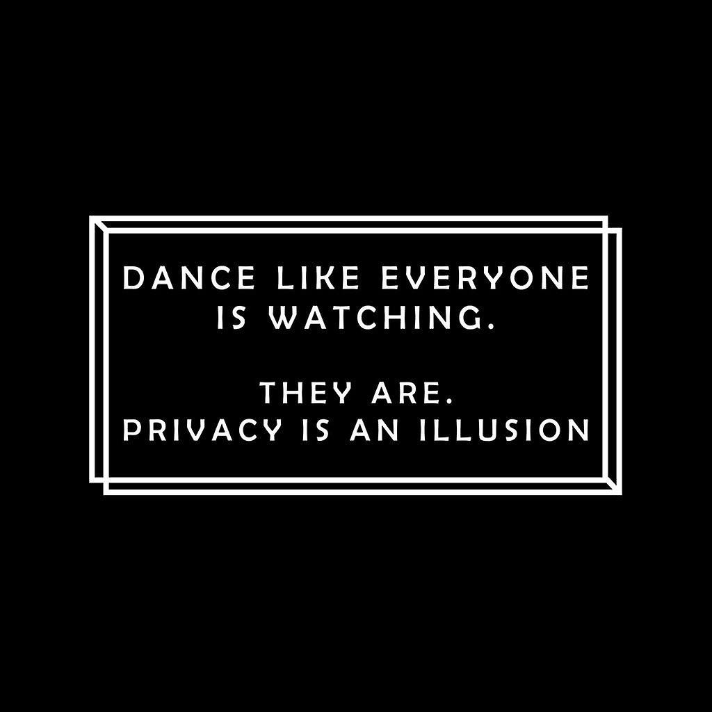 Dans som alle er ser personvern er en illusjon menn Varsity jakke