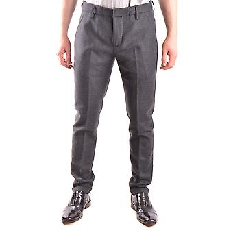 Dondup Ezbc051046 Men's Grey Wool Pants