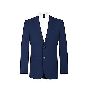 Dobell Mens Dark Blue 2 Piece Suit Regular Fit Notch Lapel