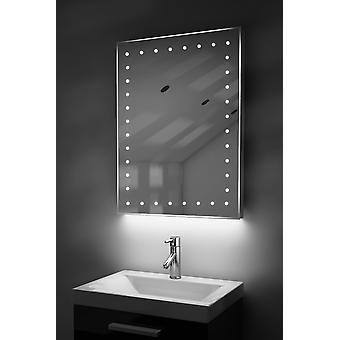 Auto kleur verandering ultra-slanke spiegel met ontwasemer & Sensor K166Rgb