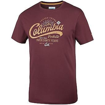Columbia Leathan Trail EM0729615 t-shirt universel hommes d'été