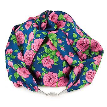 Eternal Collection Rose Garden Pink Multi Coloured Liberty Print Pure Satin Silk Infinity Scarf