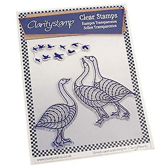 Claritystamp Geese Clear Stamps & Mask