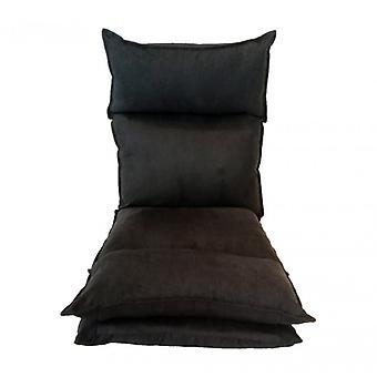 Meubilair Rebecca stoel meditatie stoel futon zwart metaal 70x56x70