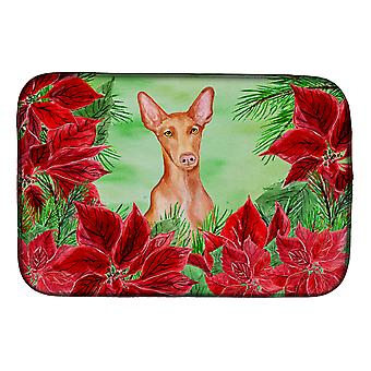 Carolines Treasures  CK1362DDM Pharaoh Hound Poinsettas Dish Drying Mat
