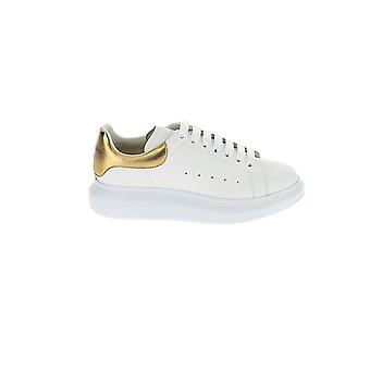 Alexander Mcqueen 553680whnbg9075 Men-apos;s White/gold Leather Sneakers