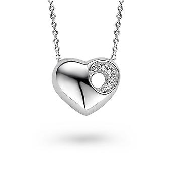 PENDANT WITH CHAIN HEART 925 SILVER ZIRCONIUM