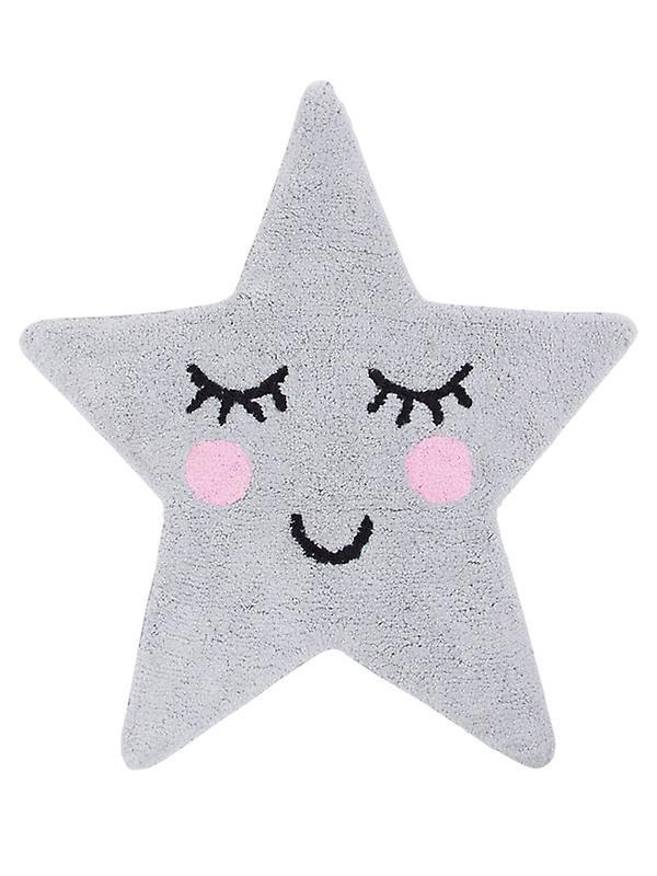 Sweet Dreams Grey Star Shaped Floor Rug