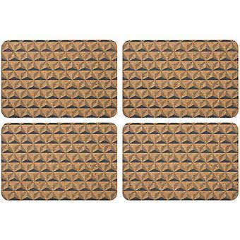 Ladelle Danni Charcoal kuvertbrikker sett med 4