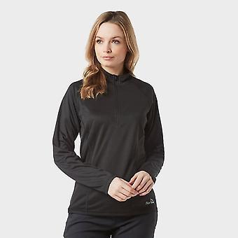 New Peter Storm Women's Long Sleeve Zip Tech Tee Black