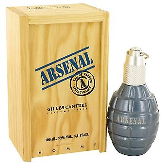 Arsenal blue eau de parfum spray by gilles cantuel 417141 100 ml