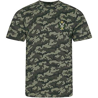 Army Air Corps - Licensed British Army Embroidered Camouflage Print T-Shirt