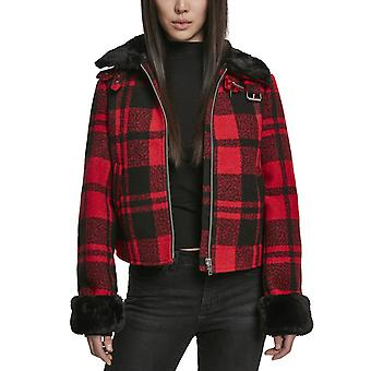 Urban Classics Ladies - PLAID Jacket red