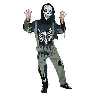 Bristol Novelty Childrens/Kids Skeleton Zombie Costume