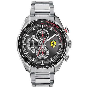 Scuderia Ferrari | Men's Speed-Racer | Stainless Steel Bracelet | Black Dial 0830652 Watch