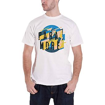 Paramore T Shirt Sharp Geoscape Band Logo new Official Mens White