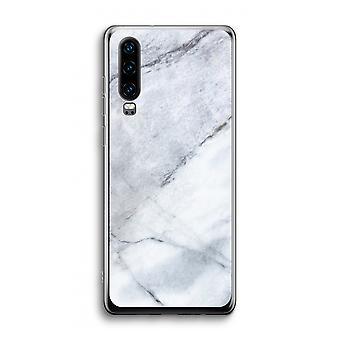 Funda transparente Huawei P30 - Blanco mármol