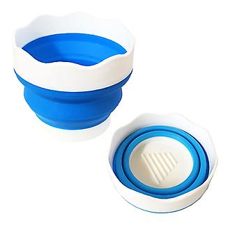 Soft Plastic Collapsible Travel Water Cup for Painting 9.5 cm