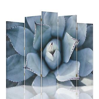 Dekorative Rand-/Freiraumteiler, 5 Paneele, doppelseitig, 360 ° Drehbare Leinwand, Agave