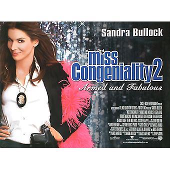 Miss Congeniality 2 alkuperäinen elokuva juliste