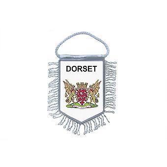 Fanion Mini Drapeau Pays Voiture Decoration Souvenir Blason Anglais Dorset R3