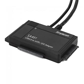 Simplecom SA491 3-IN-1 USB SATA/IDE Adapter with Power Supply