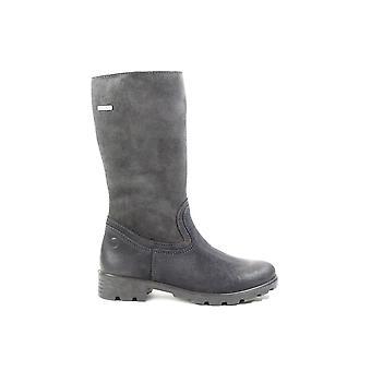 Ricosta Diana 7226200-490 donker grijs suede leer meisjes lange been laarzen