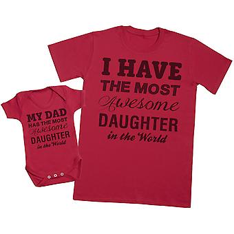 Mest awesome datter-Herre T shirt & baby bodysuit