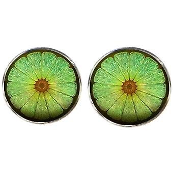 Bassin and Brown Lime Fruit Cufflinks - Green