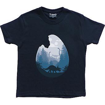 Dino Egg Navy Blue Kids' Camiseta