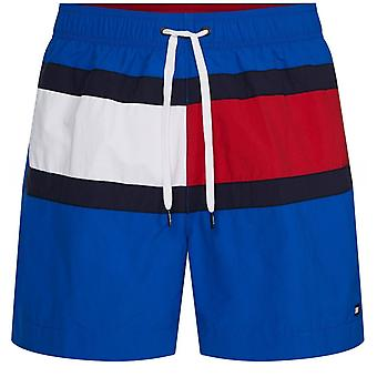 Colour Block Drawstring Swim Shorts