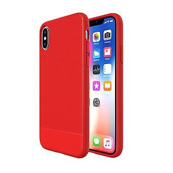 למקרה של iPhone XS, הצמד האדום שריון הלם דק הוכחה כיסוי הטלפון המגן