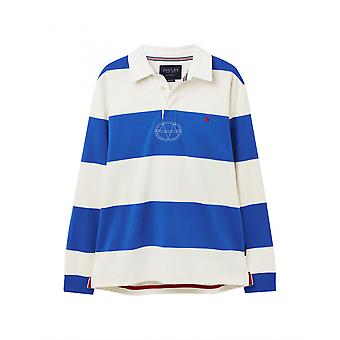 Joules Onside Mens Rugby Shirt - Blue White Stripe