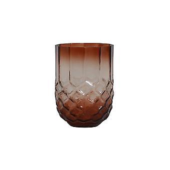 Light & Living Tealight 10x15.5cm - Forges Glass Eggplant