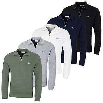Lacoste Herren Classic 1/2 Zip Durable Soft Ribbed bestickt Pullover