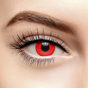 Red Halloween Colored Contact Lenses (30 Day)