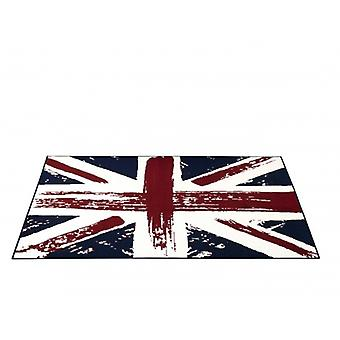 Design velour carpet Union Jack Vintage blue red cream 140 x 200 cm | 101906
