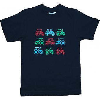 British Country Collection Massor av traktorer T-shirt - Navy Blue