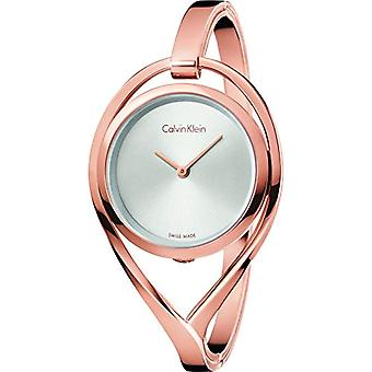 Calvin Klein ladies Quartz analogue watch with stainless steel band K6L2S616