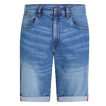 Duke Mens Griffin Kingsize Stretch Denim Shorts