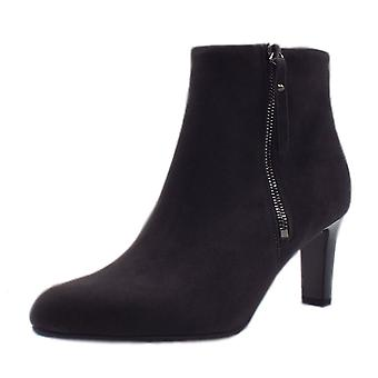 Peter Kaiser Marian Fashion Ankle Boot In Carbon Suede